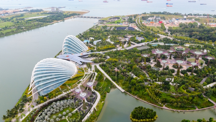 Gardens by the Bay in the Marina East planning area of Singapore