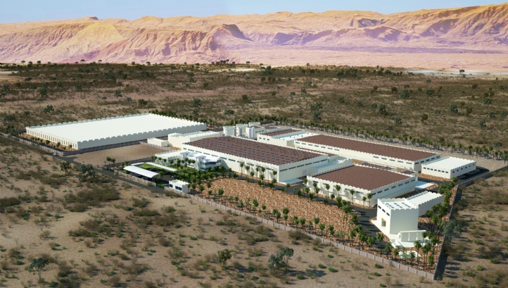 An artist's impression of the new desalination plant to be built by Hyflux in Qurayyat, Oman