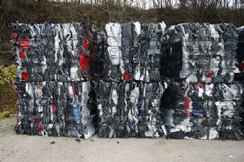 Baling Recycled Plastic Car Parts