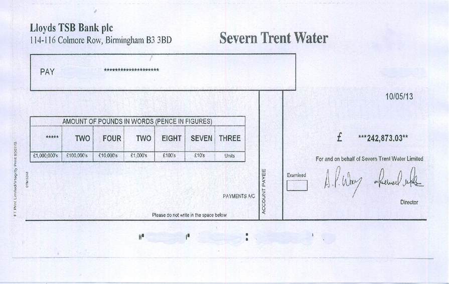 Water Company Overcharges, The Figures Are Quite Staggering!