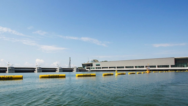 Singapore's new facility will treat seawater and freshwater from Marina Reservoir (above)