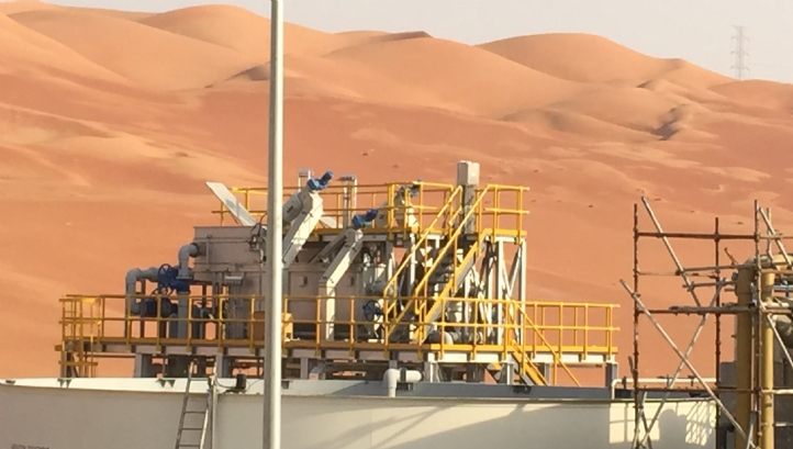 ACWA Emirates' membrane bio-reactor plant at Shaybah Oilfield, Saudi Arabia, recycles water for use at the site's residential complex