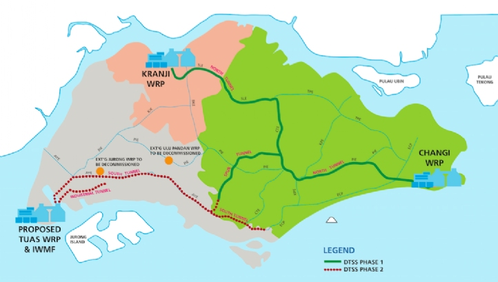Singapore's Deep Tunnel Sewage System Phases I and II are intended to build water resilience