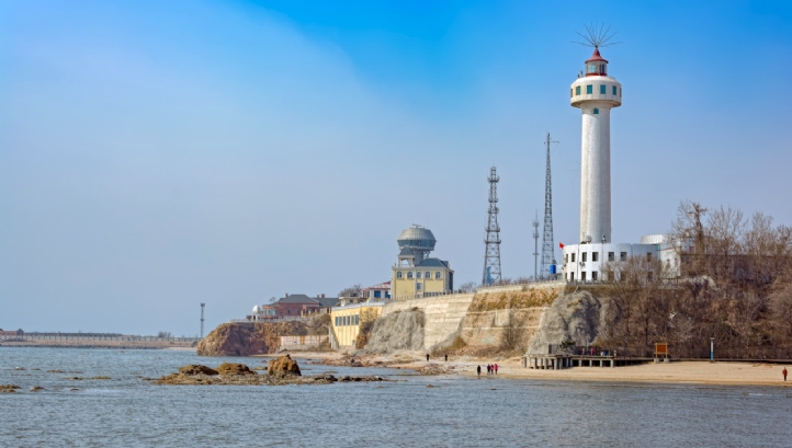The lighthouse at Quinhuangdoa Port in Hebei province, China, where Galaxy NewSpring operates wastewater treatment and reuse facilities
