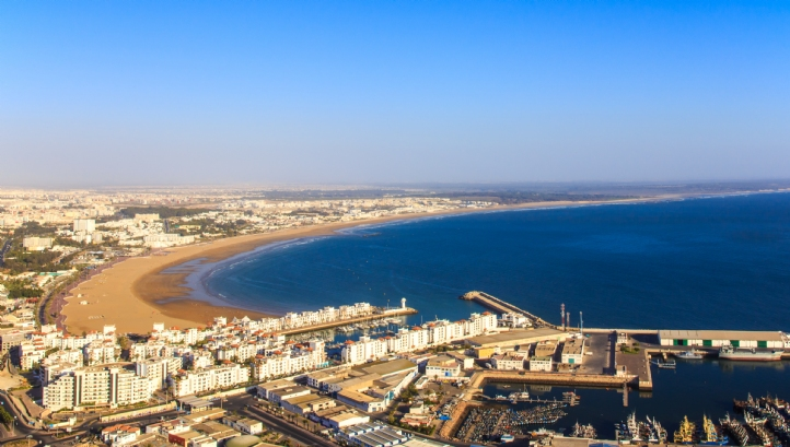 Agadir city, on Morocco's southern Atlantic coast, is well known for its tourism and golf courses