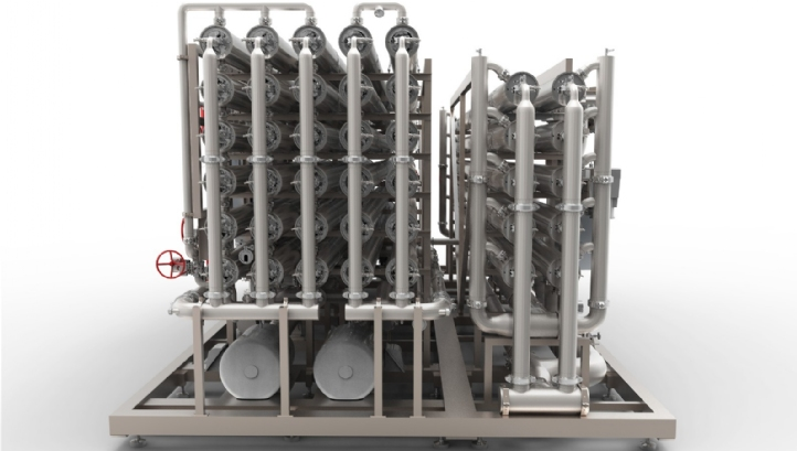 GE's new BEVPAK system combines UF and RO on a single skid