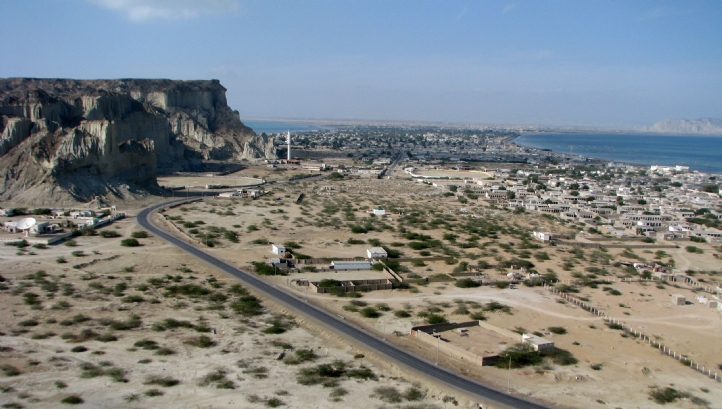 Balochistan is a dry desert region with a coastline on the Arabian Sea