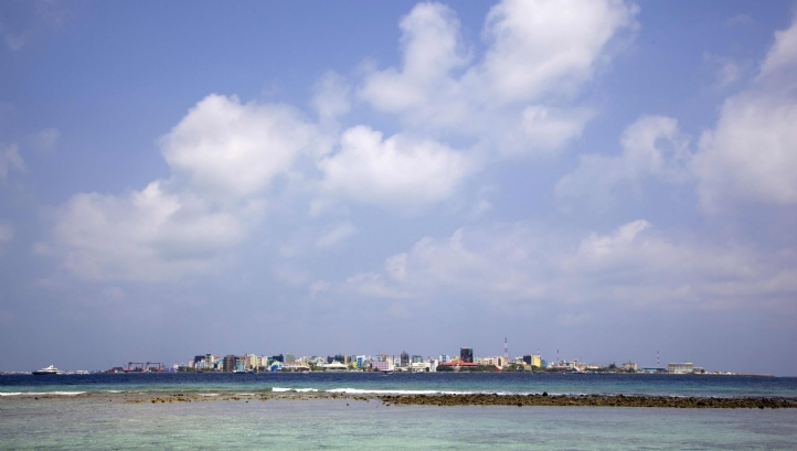 Over-crowding on the island of Male has driven the Maldivian government to develop new island Hulhumale