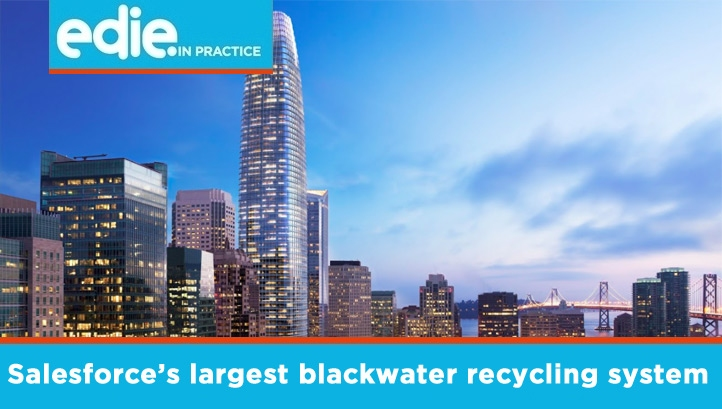 The blackwater system will reduce the building's water footprint by 76%