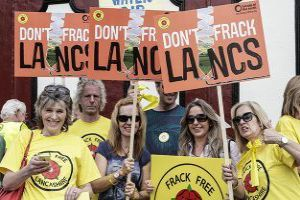 Protesters from Don't Frack Lancashire. Photo: Friends of the Earth