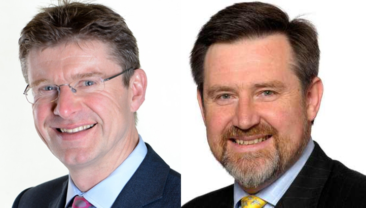 (L-R): BEIS Secretary Greg Clark and Shadow Energy and Climate Change Secretary Barry Gardiner