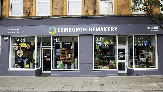 The Edinburgh Remakery encourages customers to buy refurbished computers, rent affordable workspace and tool