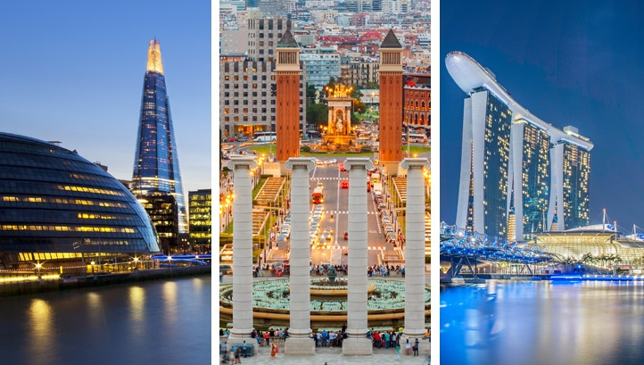 Of the 42 cities nominated by those surveyed, Philips Lighting has ranked the three best smart cities in the world