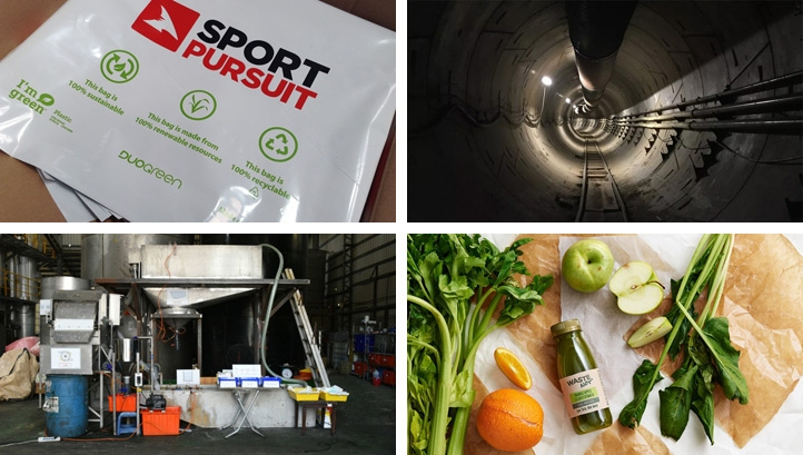 Juice made from 'wonky veg' and sugarcane bags make up some of this week's innovations
