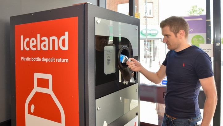The trial will help Iceland's sustainability team better understand consumer perceptions and appetite for reverse-vending systems