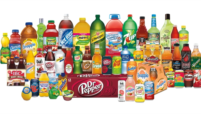 The company owns brands such as 7UP, Schweppes and Green Mountain Coffee