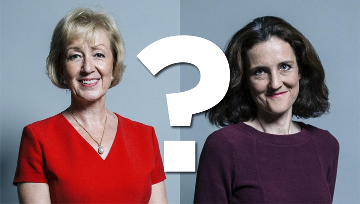 (L-R) Theresa Villiers now heads up Defra, while Andrea Leadsom leads BEIS