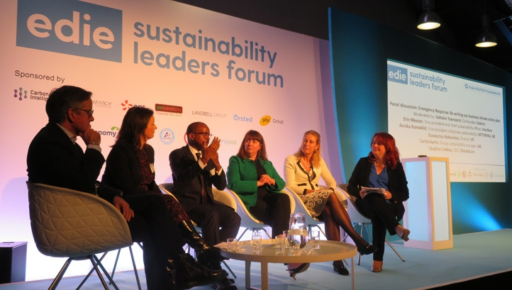 ClimateCare's chief executive Vaughan Lindsay was speaking on day one of the Sustainability Leaders Forum