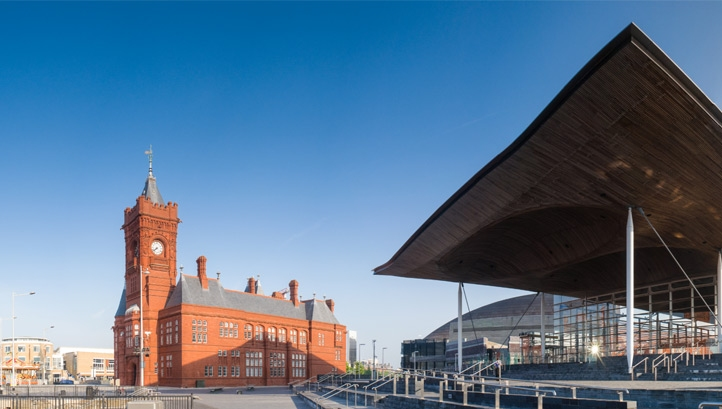 "Cardiff Bay. Wales is developing a new behaviour change initiative in a bid to make residents ""see the value of tap water"" and choose it over bottled drinks"