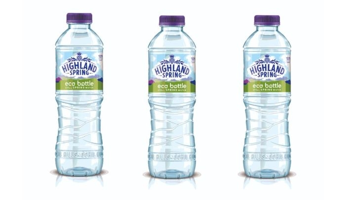 Highland Spring rolls out UK's first 100% recycled water bottle