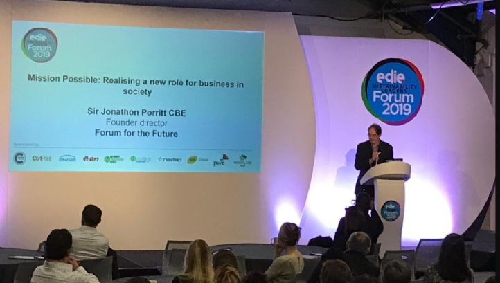 Porritt delivered a rousing opening address on the need to accelerate business action on climate change