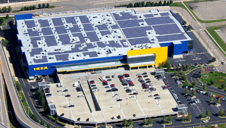 Ikea's 'People and Planet Positive' strategy includes a 2020 target of producing more renewable power than it uses