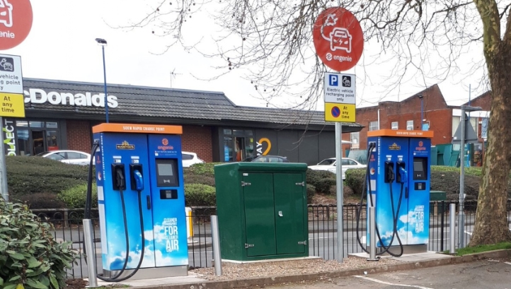 Engenie currently hosts 16 EV chargers at Marston's pubs and is targeting 400 by the end of 2020. Image: Engenie