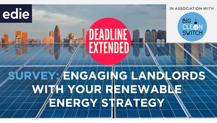 edie readers called upon to take survey on landlords and renewable energy