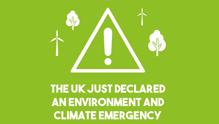 The climate emergency was declared just hours before the Committee on Climate Change called on the Government to set a target to reduce greenhouse gas emissions to 'net-zero' levels by 2050