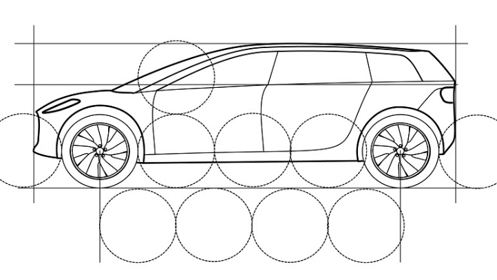 The patent for the Dyson car shows an SUV/crossover vehicle design