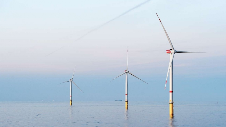 The collective capacity of the UK's independent renewable arrays surpassed 14GW for the first time last year. Pictured: The Hornsea 2 wind farm