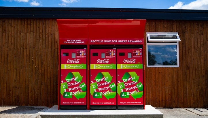 The reverse vending machines enable automated collecting, sorting and handling of returned or used plastic bottles for recycling or reuse