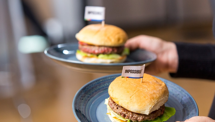 The market is expected to capture 10% of the global meat market and reach $100bn in value within 15 years. Image: Impossible Foods