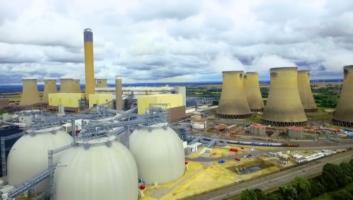 Drax Power Station, near Selby, North Yorkshire, has converted three of its six units to burn wood pellets