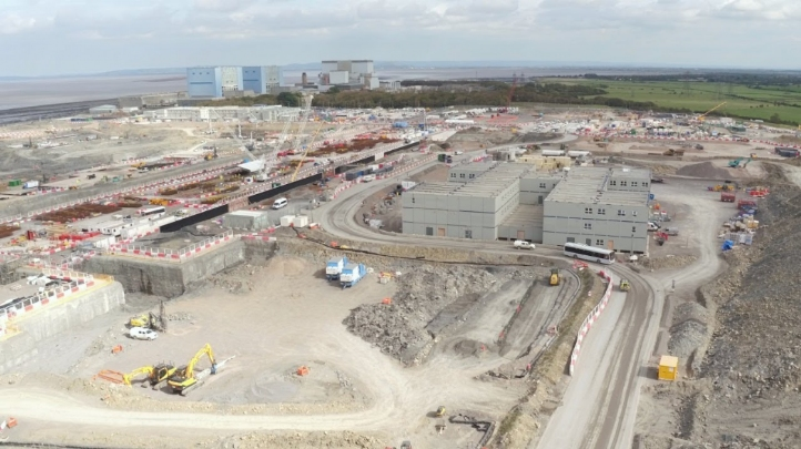 Pictured: EDF's Hinkley Point C nuclear power station