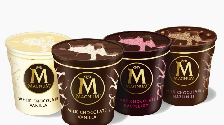 Unilever launches recycled plastic Magnum tubs