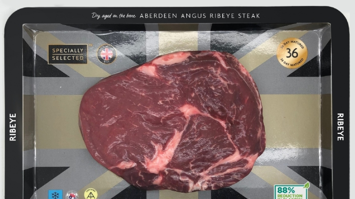 Steaks in the new packaging went on sale on Friday (9 August)