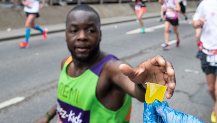 More than 36,000 Lucozade Sport Oohos were sampled at the 2019 Virgin Media London Marathon