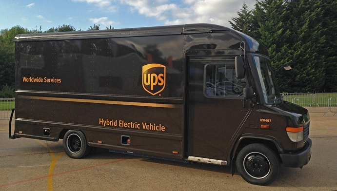 10 REEVs have entered UPS's delivery fleet in Tamworth and an additional 5 in Southampton. Image: UPS