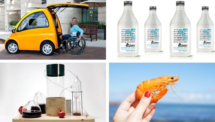 Shellfish 'plastics' and hydrogen-powered gin: The best
