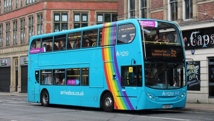 The new target builds on those already set separately by individual bus firms. Image: Arriva
