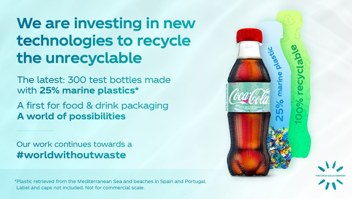 From 2020, the company will incorporate previously unrecyclable and lower-quality plastics into its bottles