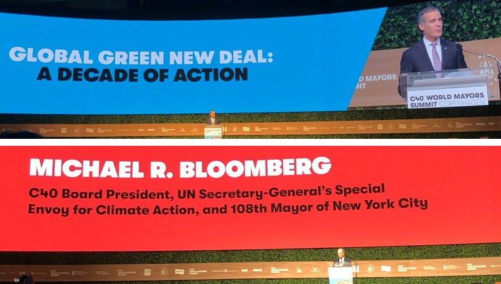 The Global Green New Deal was launched at the C40 Cities summit in Copenhagen