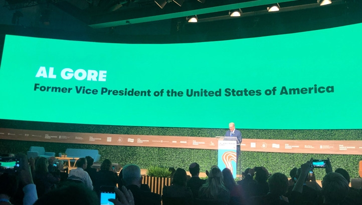 Click on each video to watch key snippets of Al Gore's key note speech
