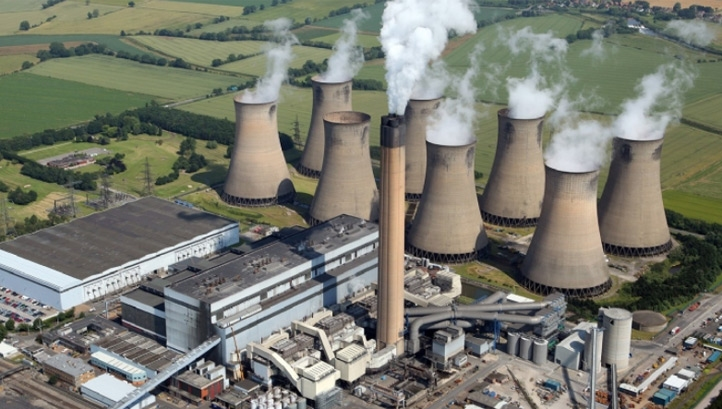The UK has already met its first and second carbon budgets and is on track to meet the third - but off-course to meet the fourth ad fifth. Pictured: The SSE Ferrybridge coal power station