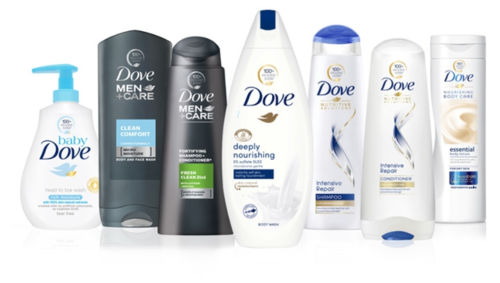 The new PCR bottles will be rolled out across Dove's original range, plus its Baby and Men+ products. Image: Dove