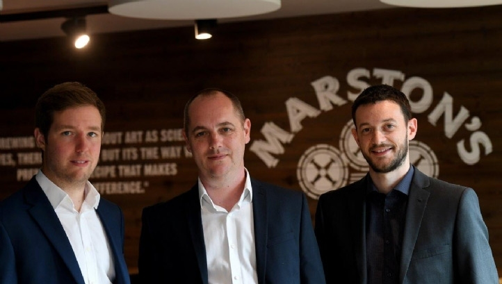 From left to right: Marston's' energy manager Chris White, head of group facilities Andy Kershaw and waste and recycling co-ordinator Jon Davies