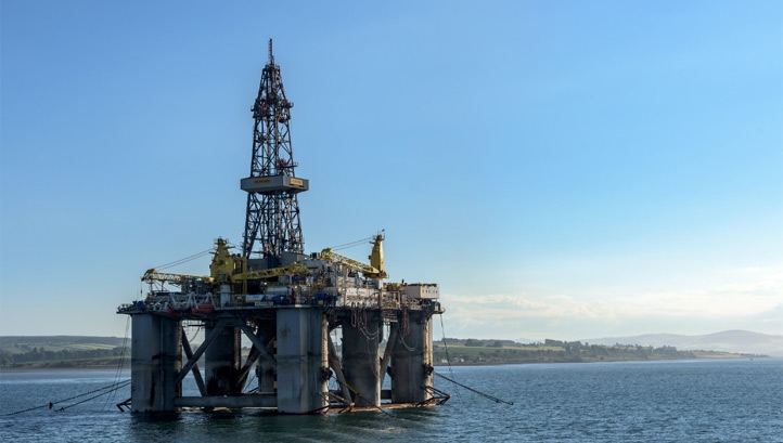 Growing energy demands were largely met using fossil fuels, the report states. Pictured: The WilPhoenix offshore oil rig in Scotland. Image: Joe deSousa