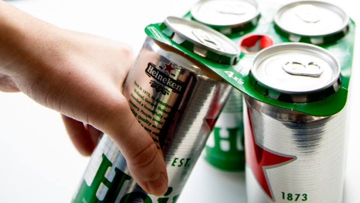 The new packaging is recyclable at kerbside and compostable. Image: Heineken UK