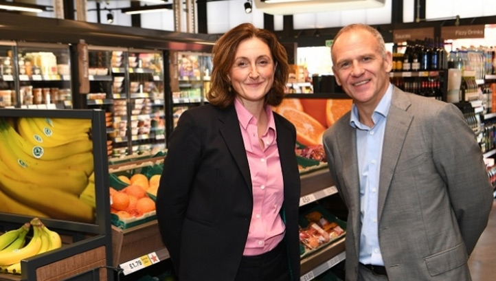 WWF UK boss Tanya Steele and Tesco chief executive Dave Lewis. Image: Andrew Parsons